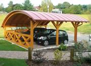 Деревянные навесы для автомобиля от Prosperitas. (Беседки,  террасы)