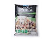 Морепродукты: филе кальмара,  креветки королевские тигровые.